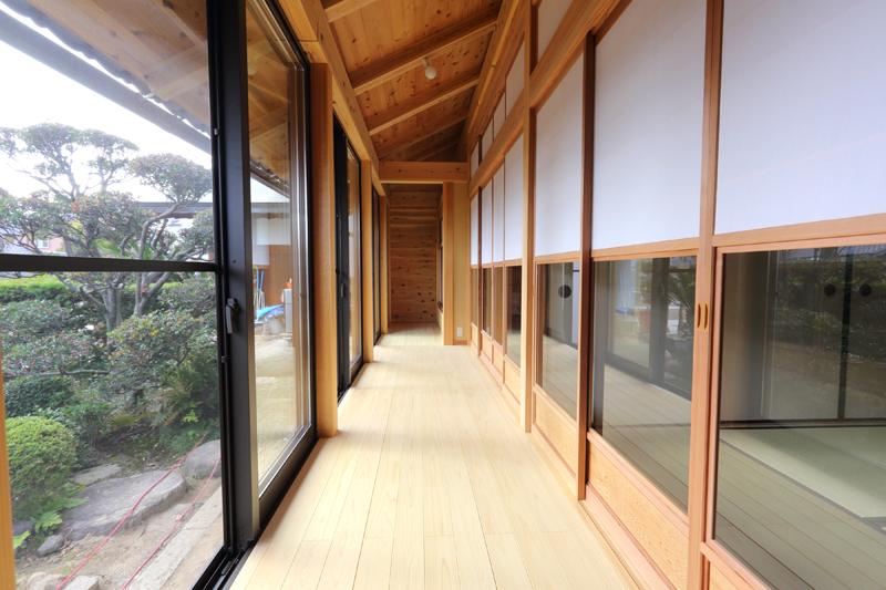 寝屋川木屋元町 板倉造りの庫裏 廊下