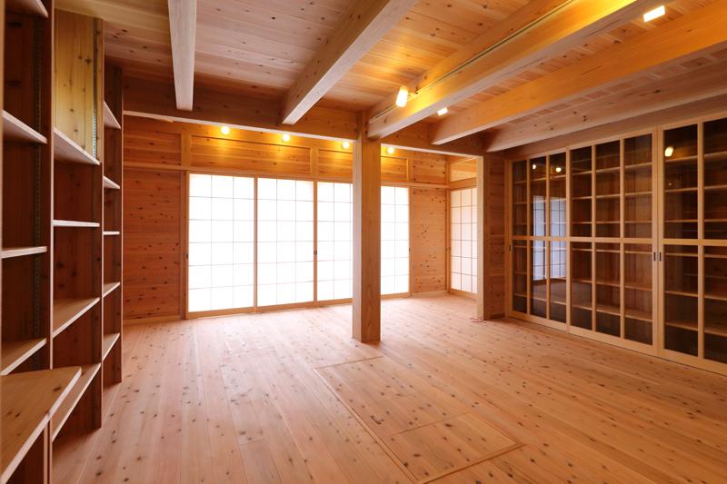 和歌山九度山 S邸『自然を感じる無垢の家』 1Fリビング